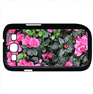 Photography day with my flowers 49 (Flowers Series) Watercolor style - Case Cover For Samsung Galaxy S3 i9300 (Black)