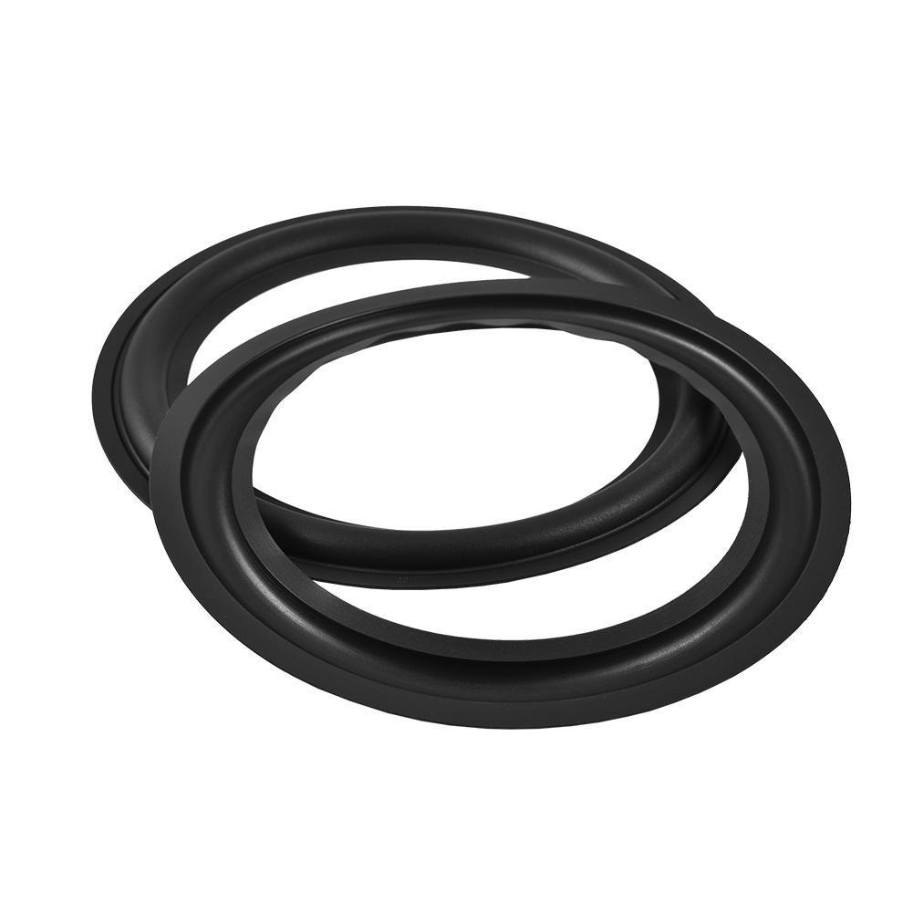 Zerone 2 stü cke 8 Zoll Perforierte Gummi Lautsprecher Schaum Rand Surround Ringe Ersatzteile fü r Lautsprecher Reparatur Oder DIY (Schwarz)
