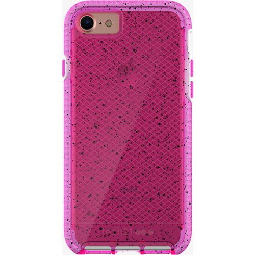 finest selection bd8b9 01702 Tech21 Evo Check Active Edition Protection Case for iPhone 7, iPhone 6,  iPhone 6S - Pink/White with Black Spots