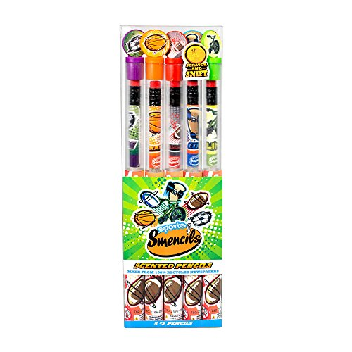 (Scentco Sports Smencils 5-Pack of HB #2 Scented Pencils)