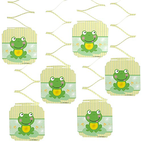 Big Dot of Happiness Froggy Frog - Baby Shower or Birthday Party Hanging Decorations - 6 - Frog Baby Shower
