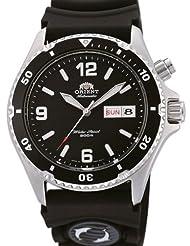 Orient Mako Black Dial Automatic Dive Watch with Rubber Dive Strap EM65004B by Orient