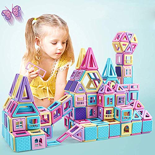 (V-Best Toy 85PC Magnetic Building Blocks?Magnetic Designer Construction Set Model Building Toy Plastic Magnetic Blocks Educational Toys for Kids Gift)