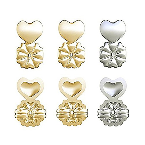 Earring Lifters - 3 Pairs Adjustable Earring Lifters Hypoallergenic - Earring Backs Lifts 2 Pair Gold 1 Pair Silver Plated - Mother's Day Gift (Pliers Standard Nose Needle)