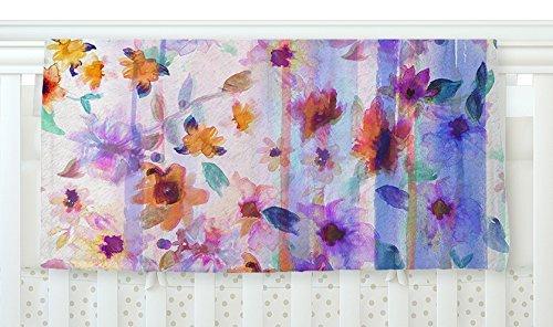 KESS InHouse Nikki Strange Floral Ombre Pastel Fleece Baby Blanket 40 x 30 [並行輸入品]   B077ZP2MFZ