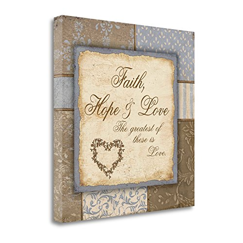 ''Faith Hope And Love'' By Jo Moulton, Fine Art Giclee Print on Gallery Wrap Canvas, Ready to Hang by Tangletown Fine Art
