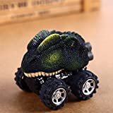 Ocamo Mini Dinosaur Car Vehicle Wind Up Toy Cute Educational Play Car Toy Great Gift for Kids Double crown dragon