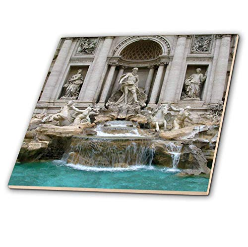 3dRose Elysium Photography - Architecture - Trevi Fountain, Rome, Italy - 12 Inch Ceramic Tile (ct_289636_4) ()