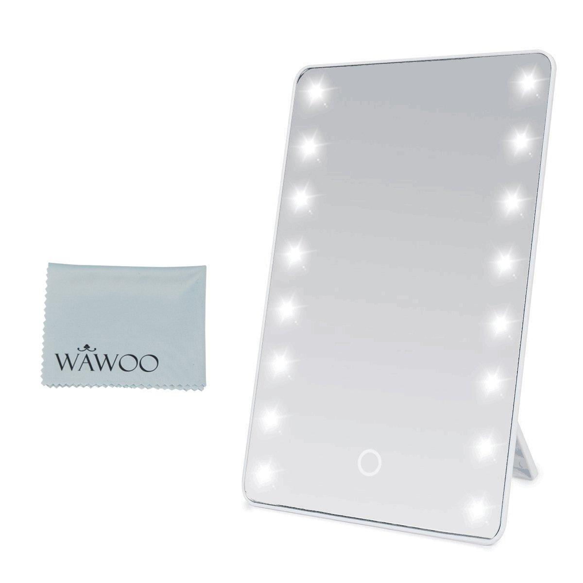 Wawoo® Make-up-Spiegel mit LED Beleuchtung Dimmbar durch Touch ... | {Spiegel mit beleuchtung 87}