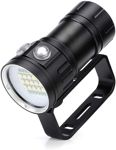 Wasserdichte Tauchmaske LED Torch Dive Lamp Taschenlampe Unterwasser 100m Lampe