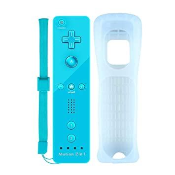 Motion Plus Mando a Distancia para Wii y Wii u COOLEAD Remoto Motion Plus Controller para Nintendo Wii y Wii U Controlador de Juego con Funda de ...