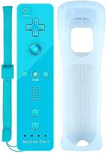 COOLEAD Motion Plus Mando a Distancia para Wii y Wii u Remoto Motion Plus Controller para Wii y Wii U Controlador de Juego con Funda de Silicona y Muñequera (Producto de Terceros):
