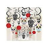 Day Of The Dead Foil Swirl Decorations Kit (Each)