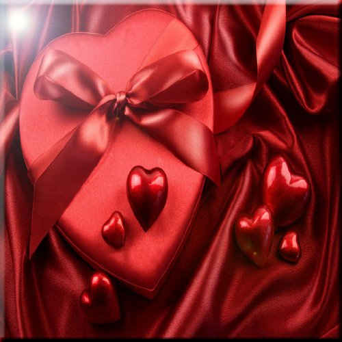 Rikki Knight Box of Chocolates Valentines Design Ceramic Art Tile 12 x 12