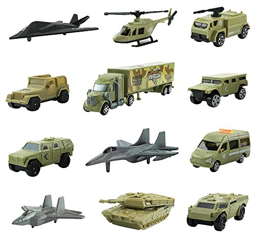 Special Forces Military Vehicles Scaled Army Toy Playset - Stealth Bomber, Tank, Helicopter, Jets and More!