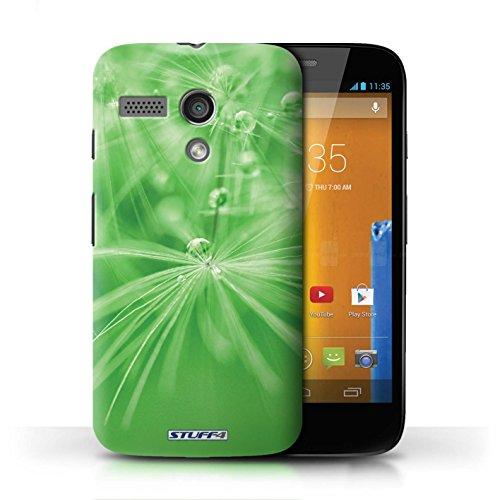 Etui / Coque pour Motorola MOTO G (2013) / Fleur Vert conception / Collection de Gouttes de Fées