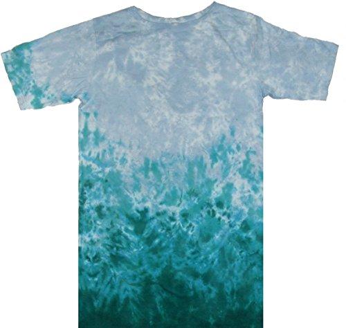 Tie Dyed Shop - Aqua Horizontal Crinkle Ladies Tie Dye Dress