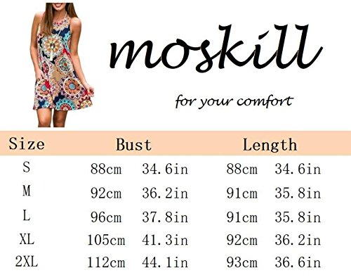 Gray Sleeveless Loose Women Damask Tshirt Swing Beach Boho for Dresses Shift Pockets Summer Casual Floral T6AIxqFw