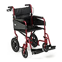 Patterson Medical Days Escape Lite Aluminium Wheelchair,  Ruby Red - Standard