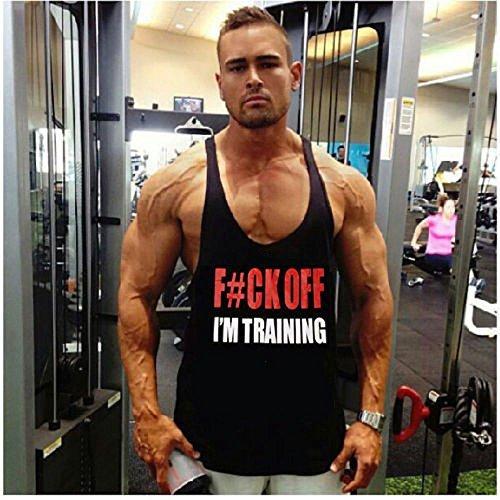 Flexz Fitness FCK OFF I'M TRAINING Singlet Tank Top | Stringer | Vest, Bodybuilding Medium