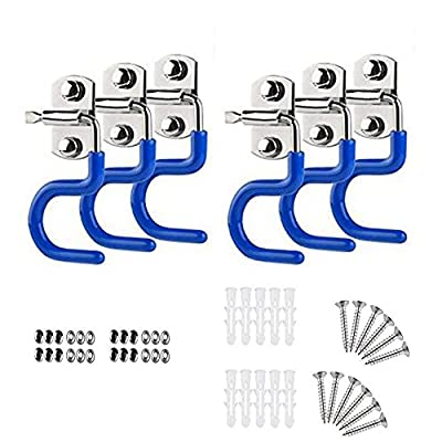 ASIBT 6 Pcs Broom Mop Holder 304 Stainless Steel S-Type for Cleaning Tools Organizer