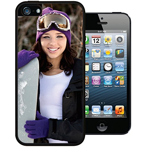 iPhone 5 / 5s / SE PixCase - Create Your Own Custom Case - Personalize It Yourself - Insert photos or create custom designs online and change anytime - Shock absorbing case with picture window (Iphone 5s Case Inserts compare prices)