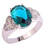 PSEZY Mystic Rainbow Topaz Amethyst rings for Women Vintage Engagement Rings Promise Rings MAE453-B453 12.0