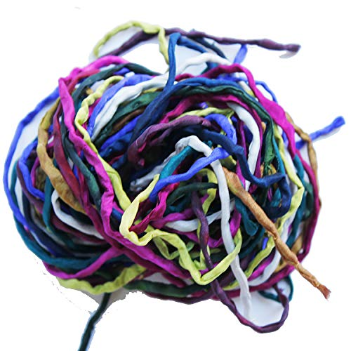 (Nahari Silks Hand-Dyed Silk Ribbon Cords for Jewelry Crafts - Surprise Me - 10 Pcs)
