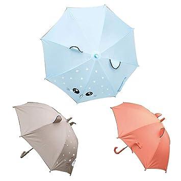 Dessin Animé Enfant Parapluie Petite Fille Animal Mignon