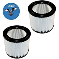 HQRP 2-pack Cartridge Filter for Shop-Vac E87S450 E87S550A QAL80 QAL80A QAM70 All Around Series Wet / Dry Vacuum + HQRP Coaster
