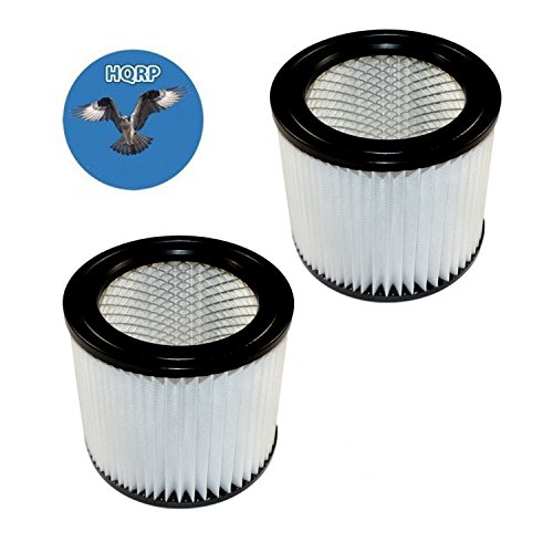 HQRP 2-pack Cartridge Filter for Shop-Vac E87S450 E87S550A All Around Plus, QAL80 QAL80A Floor Master Wet/Dry Vacuum + HQRP Coaster