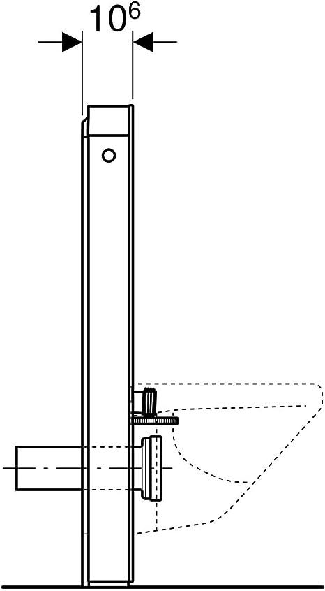 Geberit Sp/ülmechanismus//Cist Vista/ /Monolith WC KB04/unten Glas schwarz Aluminium