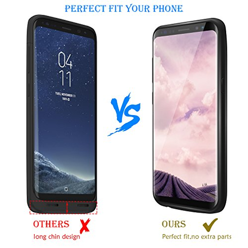 Galaxy S8 Plus Battery claim PEYOU 5500mAh No Extra Chin TPU Frame Protective Charging claim Extended Backup Charger energy Bank Cover For Samsung Galaxy S8 Plus 62 2017 Release Up to 150 Extra Battery lifestyle life Replacement warranty Battery Charger Cases