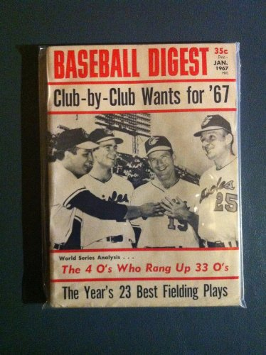 (1967 Baseball Digest January Jim Palmer Excellent to Mint)