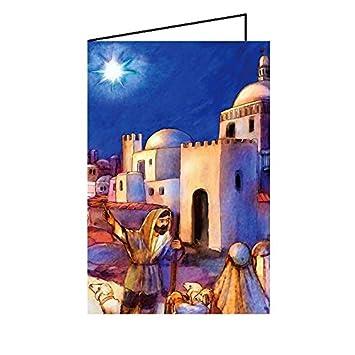 Junker Verlag Maxi Weihnachtskarte Klappkarte groß 12x19cm 10er Pack ...