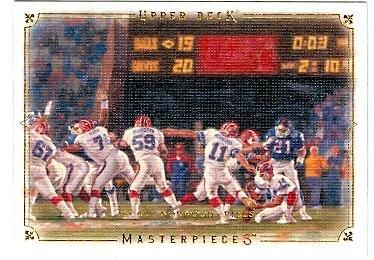 Scott Norwood football card (Buffalo Bills verus New York Giants) 2008 Upper Deck Masterpieces #79 Missed Field Goal Super Bowl XXV
