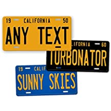 "Antique Retro California State Auto Tag Official 1950s 1960s 1970s Vintage Replica CA License Plate ""ANY TEXT!"" Personalized Sign"
