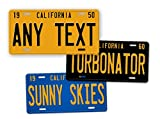 """Antique Retro California State Auto Tag Official 1950s 1960s 1970s Vintage Replica CA License Plate """"ANY TEXT!"""" Personalized Sign"""