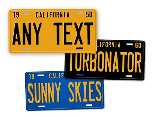 - Antique Retro California State Auto Tag Official 1950s 1960s 1970s Vintage Replica CA License Plate Any Text! Personalized Sign