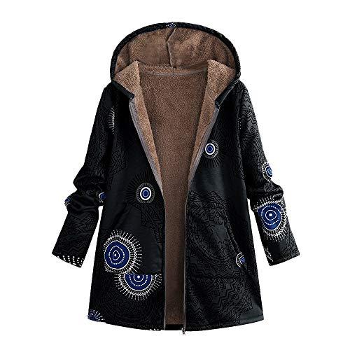 Bib Tank Vintage (COPPEN Womens Coats Winter Warm Outwear Print Hooded Pockets Vintage Oversize Hoodie)
