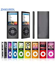 YZT ZHKUBDL 1.8 inch mp3 Player 16GB 32GB Music Playing with fm Radio Video Player E-Book Player MP3 with Built-in Memory (Color : Gold, Memory Size : 16GB)