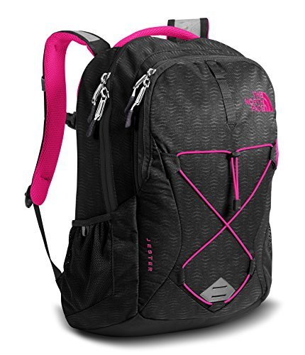 The North Face Women's Jester Backpack - TNF Black Emboss/Petticoat Pink - One Size (Past Season) [並行輸入品]   B07K1JZLVG