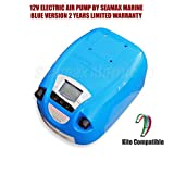 Seamax Portable 12V Electric Air Pump for Inflatable Boat, Inflatable Kayak (No Battery)