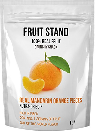 Fruit Stand Real Mandarin Oranges, 1 Ounce (Pack of 6)