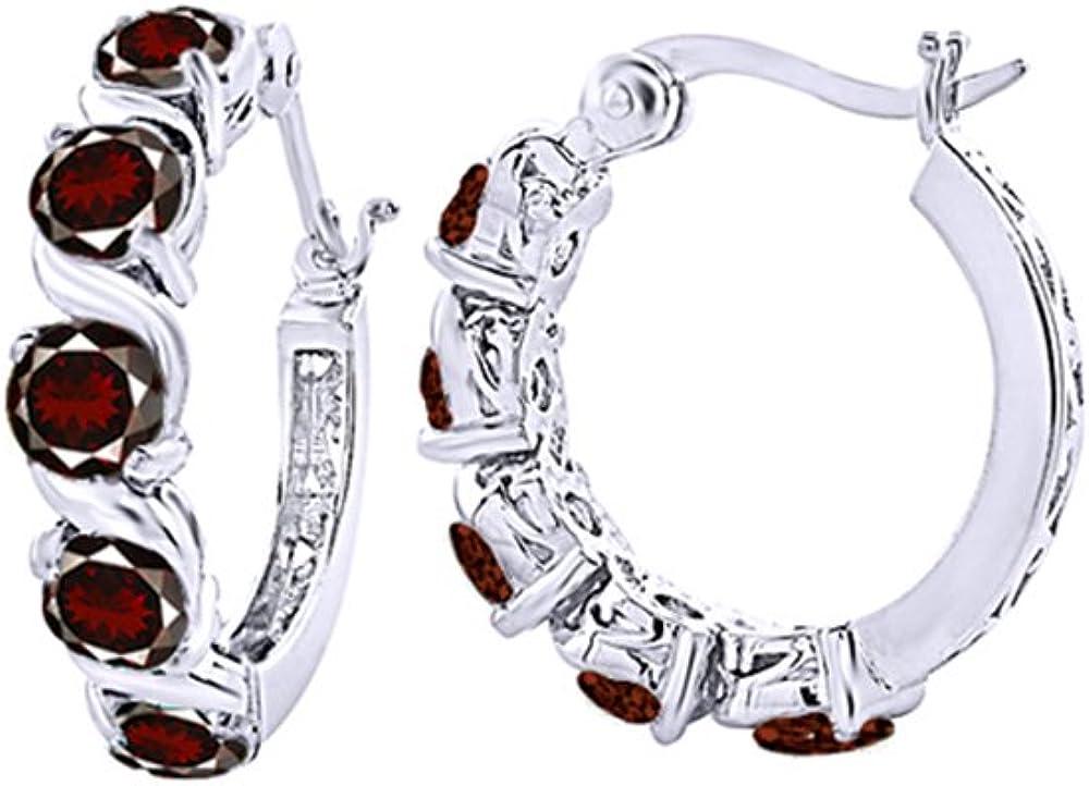 LeCalla Sterling Silver Valentines Day Jewelry Heart Shape 10MM Cubic Zirconia Stud Earrings for Women