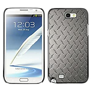Qstar Arte & diseño plástico duro Fundas Cover Cubre Hard Case Cover para SAMSUNG Galaxy Note 2 II / N7100 ( Wall Art Design Grey Classic Interior Pattern)