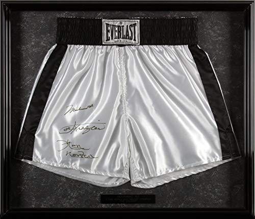 - Muhammad Ali, Joe Frazier & Ken Norton Signed & Framed Everlast Trunks BAS