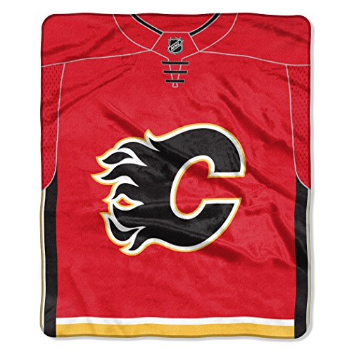 (The Northwest Company Officially Licensed NHL Calgary Flames Jersey Raschel Throw Blanket, 50