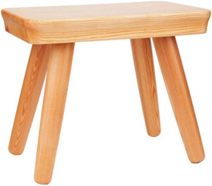 B07HLL3W6F XMXYJUDT LYX Solid Wood Stool, Small Stool Pine Environmental Protection Stool Simple Log Change Shoe Bench Modern Chinese Style Small Square Stool Nordic Low Stool Small Bench Wood Color 51aZldq2BFmL
