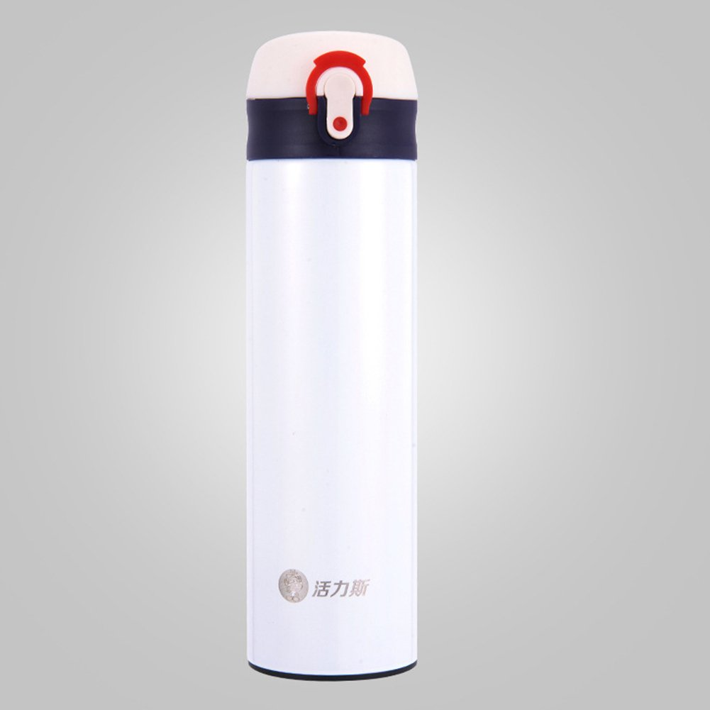 304 Stainless Steel Thermos Cup Exquisite Vacuum Jug Christmas Or Birtheday Gift 420ML(milk white)